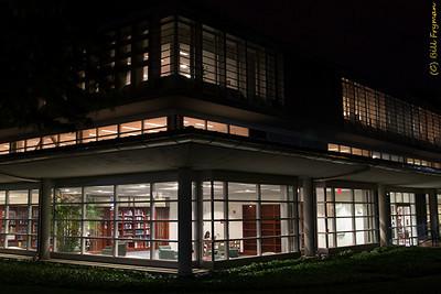 John M. Olin Library, northwest corner of building
