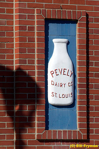 Wall inset to left of entrance of administration building, old Pevely Dairy on campus of St. Louis University