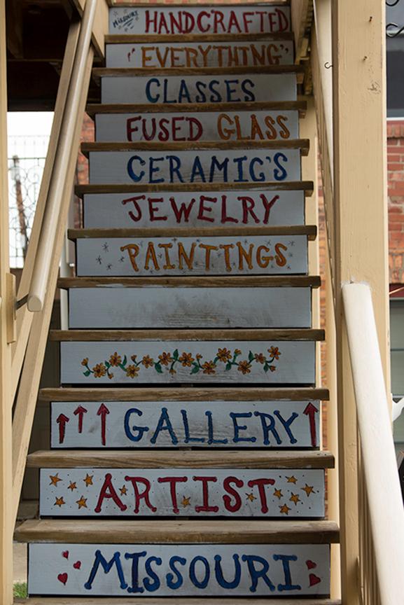 Gallery stairway