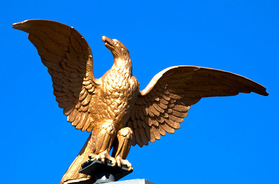 Eagle atop M&I Bank, Kingshighway