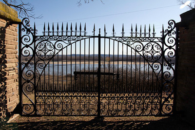 Gates from St. Louis Arsenal now located in Jefferson Barracks County Park overlooking the Mississippi River