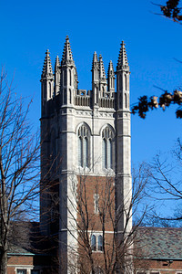 Spires on SD Press Education Center, Eden Theological Seminary, Webster Groves.