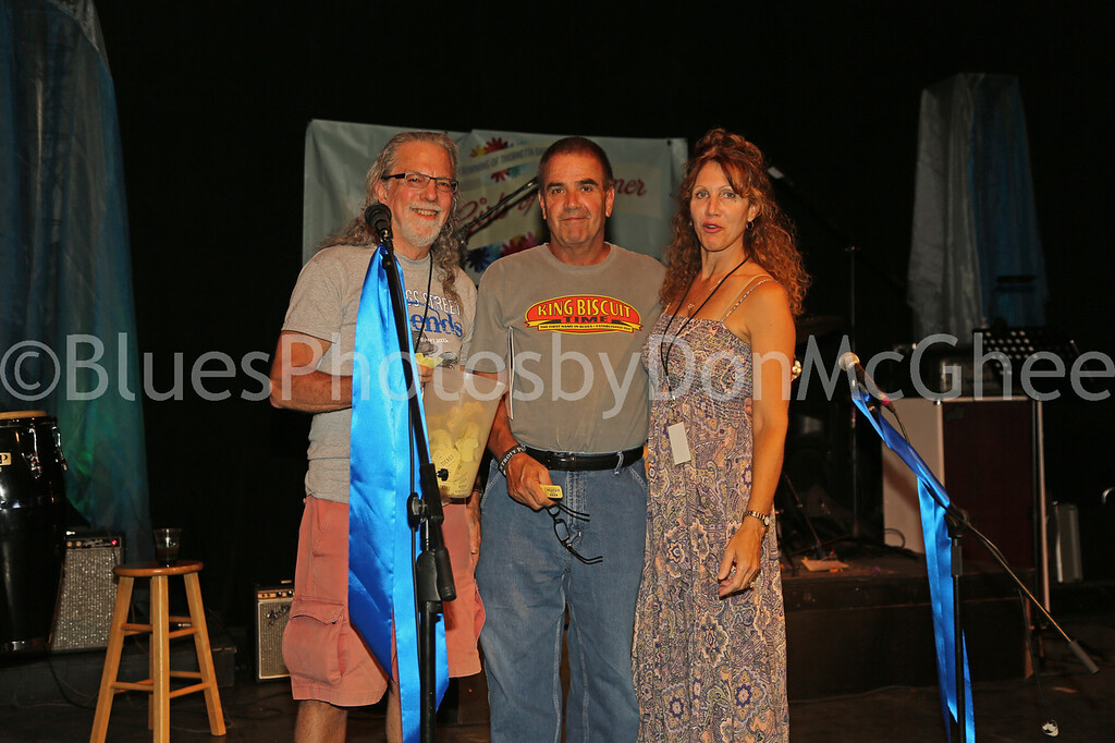 Mike Rembor,<br /> Mr. & Mrs. Mike Linsley - winner of 50-50 raffle cash prize