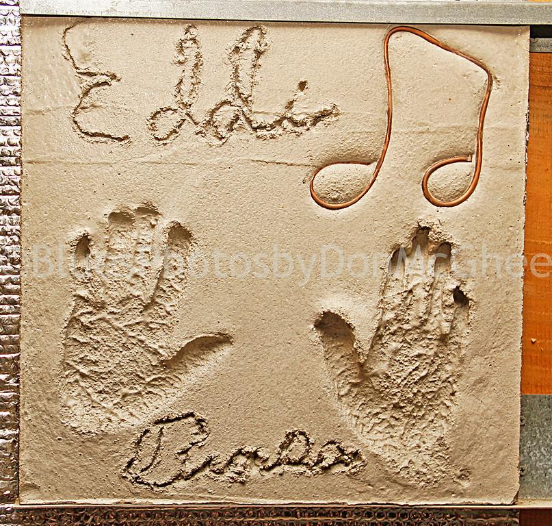 "Eddie ""Guitar"" Burns, hand print<br /> Hastings Street Ballroom Detroit, MI"