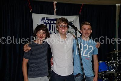 DBS Youth Challenge winners - Soon2b band:  Ethan Martel, Michael Hilgendorf, AJ Verschaeve