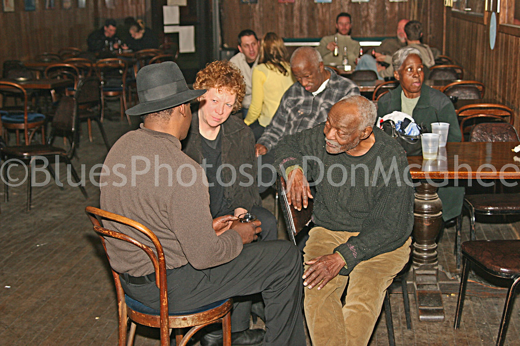 """I was told that """"Butch"""" Dixon was Willie Dixon's son - he walked into the Attic Bar, talked to Uncle Jessie White, then played & sang a few tunes. 2006"""