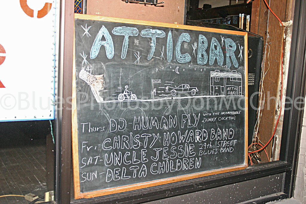 Attic Bar sign 2005