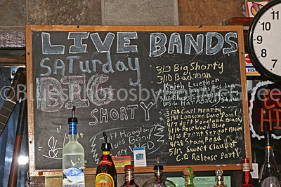 Attic Bar - sign behind bar 2007