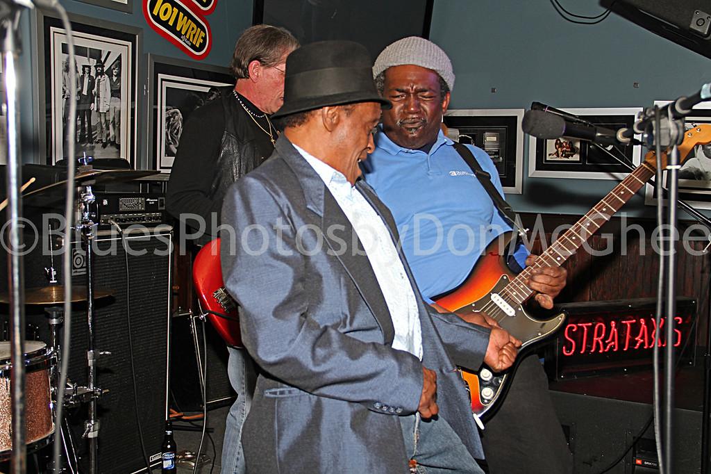 "Horace ""Little Leon"" Mills<br /> Detroit Blues Society Meeting Jam<br /> Freddy's Bar 2011"