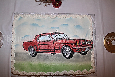 Sir Mack Rice's 75th birthday cake