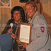 Martha Reeves presents Sir Mack Rice w/ Detroit City Council Testimonial Resolution on his 75th Birthday