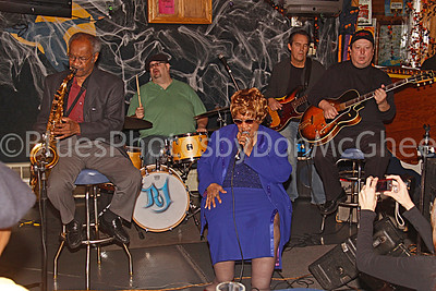 "George ""Sax"" Benson, RJ Spangler, Alberta Adams, Mike Marshall, Paul Carey Detroit Blues Society Calvin Frazier Fundraiser Blue Goose Inn 2009"