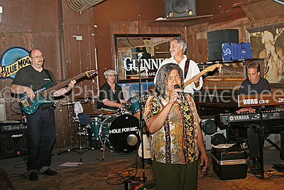 Sweet Claudette band - bass player, Greg Manning, Sweet Claudette Harrell-Manning, guitar player, Andy Szymanski 2005
