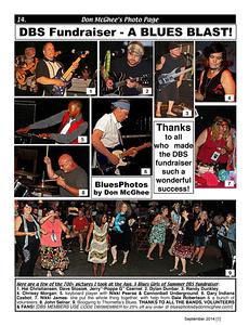 September 2014 [1] DBS Fundraiser - A BLUES BLAST!