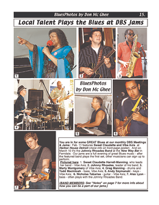 February 2012 Local Talent Plays the Blues at DBS Jams