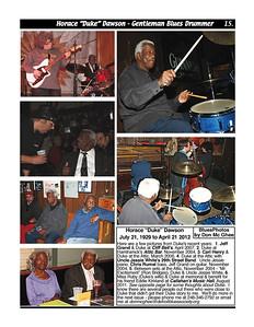 "June 2012 Horace ""Duke"" Dawson - Gentleman Blues Drummer"