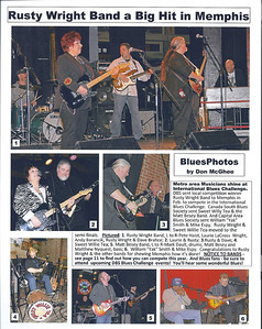 March 2011 Rusty Wright Band a Big Hit in Memphis