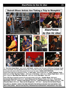 January 2012 Detroit Blues Artists Are Taking a Trip to Memphis!