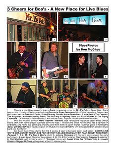January 2015 3 Cheers for Boo's - A New Place for Live Blues