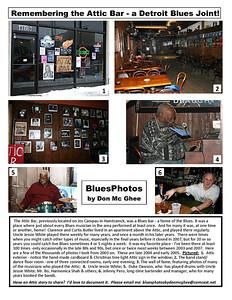 November 2011 Remembering the Attic Bar - a Detroit Blues Joint!