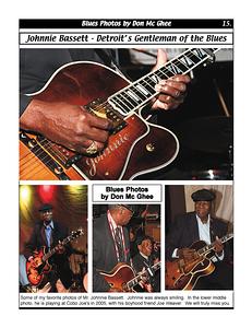 September 2012 Johnnie Bassett - Detroit's Gentleman of the Blues
