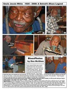 November 2012 Uncle Jessie White 1920 - 2008:  A Detroit Blues Legend