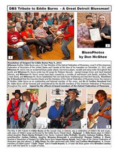 June 2015 DBS Tribute to Eddie Burns - A Great Detroit Bluesman!