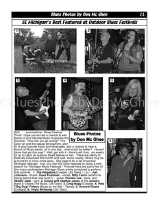 August 2012 SE Michigan's Best Featured at Outdoor Blues Festivals