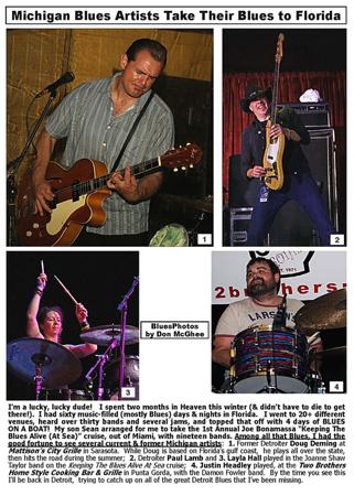 April 2015 Michigan Blues Artists Take Their Blues to Florida
