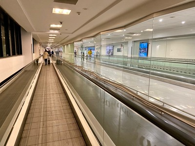 You can do a lot of walking at SFO.