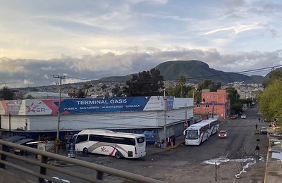 During the two-hour bus ride I would snap some photos. This bus station wasn't nearly as nice as the one I used at the MEX airport.