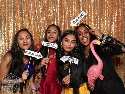 Congrats to Mihir & Krishna! We had a blast celebrating with you all!  Love this photo? Order prints and more at findmysnaps.com/Mihir-Krishna.  Looking for an awesome photo booth for your next event? Head to bluebuscreatives.com for more info!