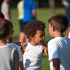 Kid's play around in line up between drills at the Mike Austin Memorial Football Camp which is free to all boys and girls between the ages of 5 and 14 at the Leominster Pop Warner football field on July 31, 2017.  Mike Austin passed away in May of 2017 leaving behind a legacy of 35 plus years of dedication to a number of youth athletic programs in Leominster.  SENTINEL & ENTERPRISE JEFF PORTER