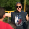 Leominster High School freshman team coach and long time pop warner coach, Marcos Meza, splits the kids up by age at the Mike Austin Memorial Football Camp which is free to all boys and girls between the ages of 5 and 14 at the Leominster Pop Warner football field on July 31, 2017.  Mike Austin passed away in May of 2017 leaving behind a legacy of 35 plus years of dedication to a number of youth athletic programs in Leominster.  SENTINEL & ENTERPRISE JEFF PORTER