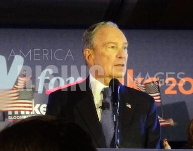 Mike Bloomberg at Rally in McLean, VA