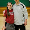 Fitchburg High pitcher Kammarie Pelland poses with coach, and father, Mike Pelland, during practice on Friday, March 24, 2017. SENTINEL & ENTERPRISE / Ashley Green