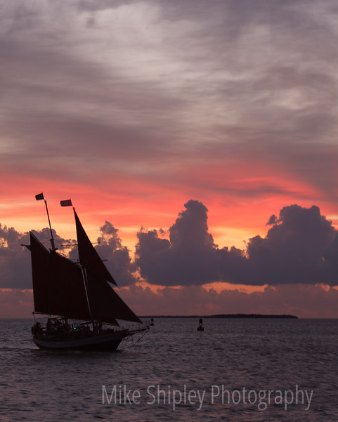Tall Ship at Sunset, Key West, FK