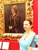 Adelle and her doppleganger Caterina Coronaro, Uffizi gallery, Florence, June 8, 2011.