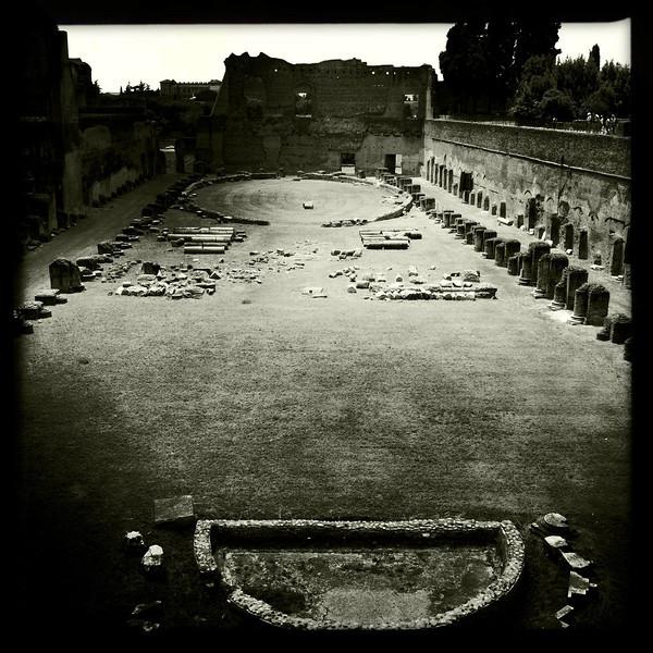 The Palatin stadium, Rome, June 4, 2011.
