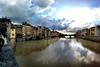 View from Ponte Vecchio looking west, Florence, June 8, 2011.