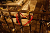 Heart-shaped lock on the Ponte Vecchio.<br /> <br /> Florence_MC_06082011_009
