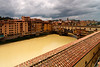 Ponte Vecchio on the Arno River. View from the hotel room. It had just rained heavily, which made the river cloudy.<br /> <br /> Florence_MC_06082011_003