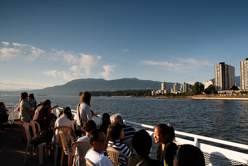 Dinner cruise from Granville Island to West Vancouver and back, August 20, 2011.