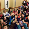 Mike Dorval of Northboro known as Mike the Bubbleman visited the Leomisnter Public Library on Saturday, January 5, 2019 to a packed house of kids and parents. Kids reach for a bubble as it passes over them during the show. SENTINEL & ENTERPRISE/JOHN LOVE