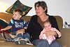 Mom with Evan and Julia