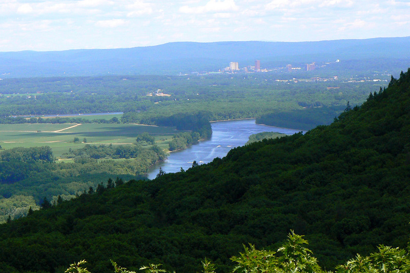 Looking Northeast towards UMass from the top of Goat Peak