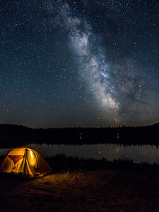 Milky Way at Horseshoe Lake, British Columbia
