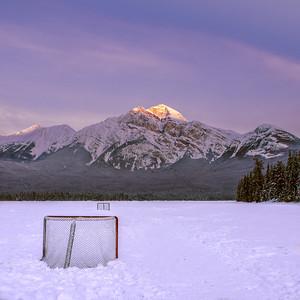 Hockey at Pyramid Lake