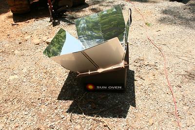 Solar oven - June.