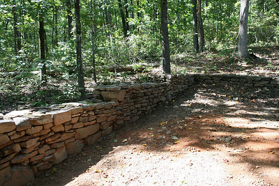 Stone wall behind the house - Sept 2009.